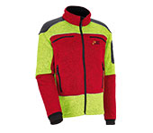 X-treme Arctic Faserstrickjacke gelb/rot