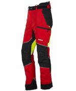 KOX Schnittschutzhose Light, Rot/Gelb, XX71225